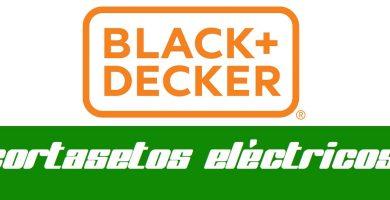 cortasetos electrico black decker